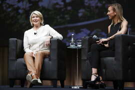 Martha Stewart speaks with Giuliana Rancic at the QuickBooks Connect conference at the San Jose Convention Center.
