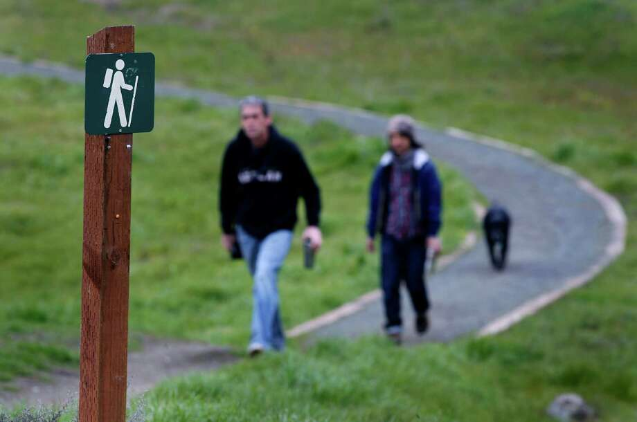 "McLaren Park: San Francisco's second-largest park has plenty of hiking options, including the thought-provoking ""Philosopher's Way,"" a 2.7 mile loop trail that was dedicated in 2013. Photo: Paul Chinn, The Chronicle / ONLINE_YES"
