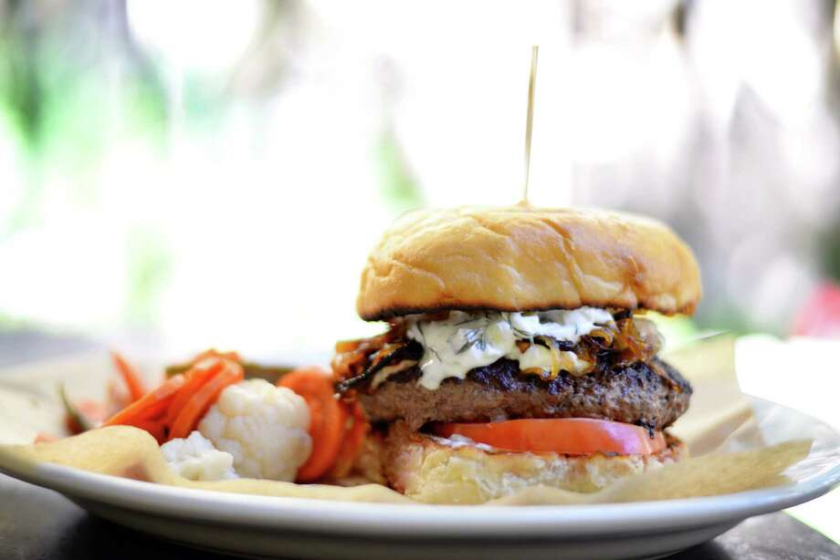 Lamb Burger is a new item on The Esquire Tavern's 2014 fall menu. Photo: Esquire Tavern, Courtesy
