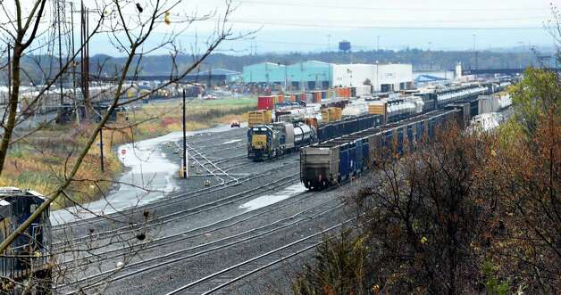 The Selkirk CSX yard Thursday afternoon, Oct. 23, 2014, in Selkirk, N.Y. (Skip Dickstein/Times Union) Photo: SKIP DICKSTEIN