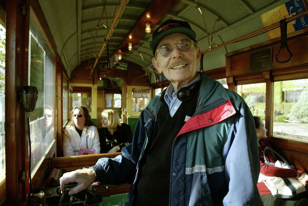 Seattle's Waterfront Streetcar was a great, vintage-y way to get to a Mariners game. The cars were shelved in 2005, to make way for the Olympic Sculpture Park. Photo: Streetcar conductor Howard Roseman, 2005.