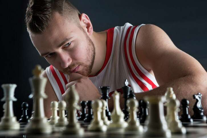 Houston Rockets forward-center Donatas Motiejunas. Monday, Sept. 29, 2014, in Houston.