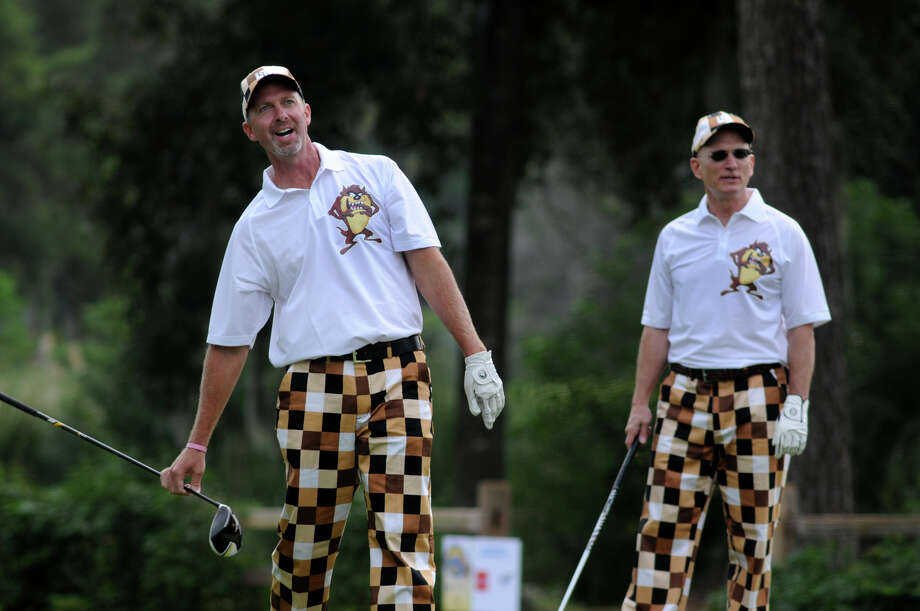 Golfers hit the green in their wackiest pants to benefit Texas Children's Newborn Center. Take a look at all the fun from the 17th annual Bad Pants Open Golf Tournament. Photo: Jerry Baker, For The Chronicle
