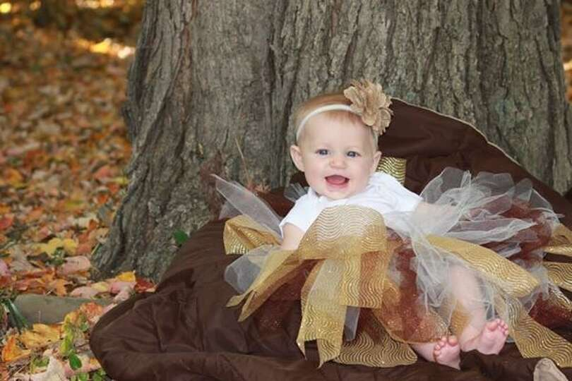 Kassandra Foley says she and her daughter, Quinn, age 5 months, spent a beautiful fall day outside i