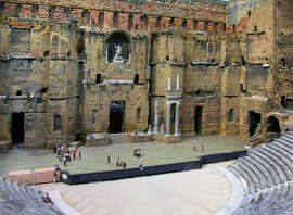 Orange's open-air theater and its acoustics are a legacy of the Romans, who loved pantomimes and farces.