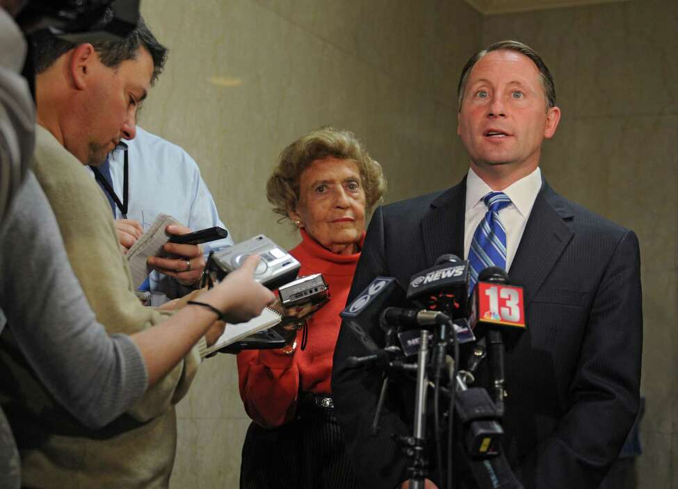 Republican gubernatorial candidate Rob Astorino speaks to the media about Wednesday's debate in Buffalo Thursday lunchtime, Oct. 23, 2014, during a press conference at the Capitol in Albany, N.Y. (Lori Van Buren / Times Union)