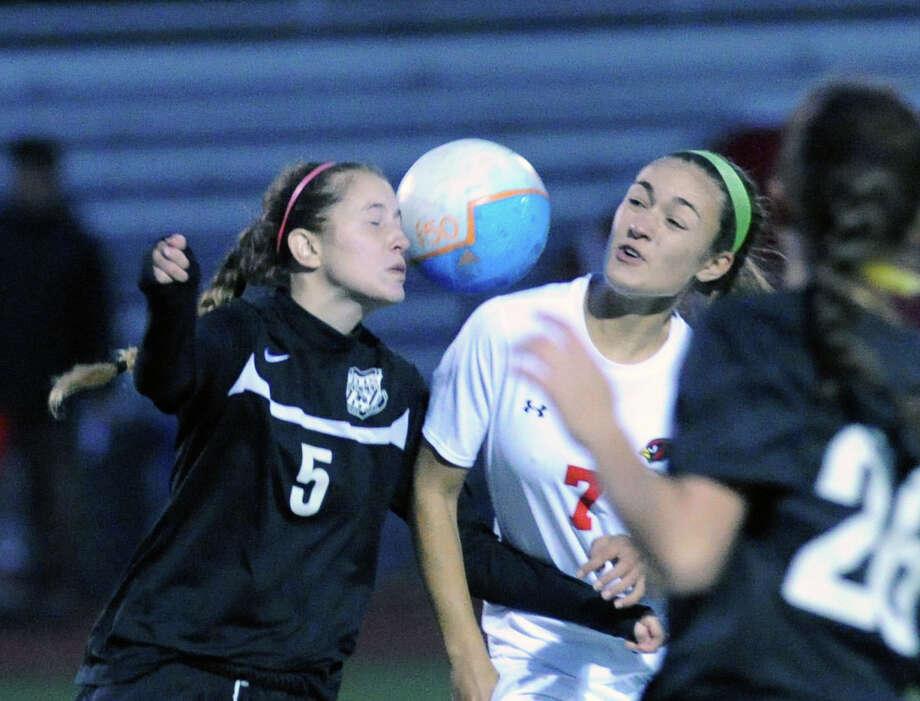 All-FCIAC girls soccer first team Photo: Bob Luckey / Greenwich Time