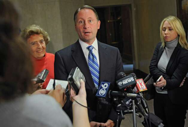 Republican gubernatorial candidate Rob Astorino speaks to the media about Wednesday's debate in Buffalo Thursday lunchtime, Oct. 23, 2014, during a press conference at the Capitol in Albany, N.Y.  (Lori Van Buren / Times Union) Photo: Lori Van Buren / 00029181A