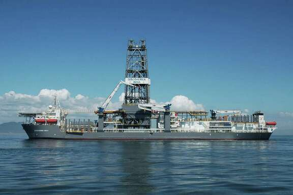 Transocean's Discovery India drillship bored the well in the Guadalupe prospect 180 miles off the Louisiana coast, where Chevron and BP announced a deep-water oil find on Thursday.  (Chevron Corp. photo)