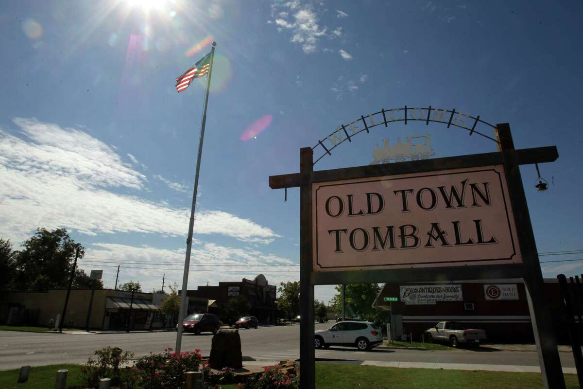 An Old Main Tomball sign is shown Thursday, Oct. 23, 2014, in Tomball. Voters in Tomball will have a chance to repeal an ordinance preventing Old Town Tomball businesses from selling certain types of alcohol in a special-option election at City Hall.