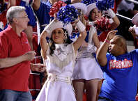 Parents join their students for Senior Night as the West Brook Bruins take on the La Porte Bulldogs at the Carroll Thomas Stadium October 23, 2014. Photo by Drew Loker