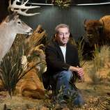Dr. Daniel Brooks Curator Of Vertebrate Zoology  sits in the new Texas Wildlife Farish Hall at the Houston Museum of Natural Science featuring more than 275 species from the past and present and interactive displays for visitors to learn about the animals Thursday, Oct. 23, 2014, in Houston. About 50 species featured are either extinct, endangered or threatened to teach visitors about conservation. The Dioramas highlights the East Texas Piney Woods, the Coastal Oak Motte, Coastal Prairie, wetlands, Rio Grande Dry Forest, Guadalupe Mountains  and high plains.