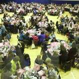 Over 500 women make Challa bread in the Mega Challah Bake on October 23, 2014 in the gymnasium of the Evelyn Rubenstein Jewish Community Center in Houston, TX.