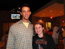 Madison Bumgarner then ... seen with a fan in St. Louis during a Giants road series. He looks so young!