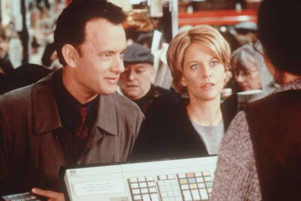 "You've Got Mail: As much as we love Tom Hanks and Meg Ryan in ""Sleepless in Seattle,"" we loathe them in this movie. Hanks plays Joe Fox, a nasty corporate bookstore chain owner wreaking havoc on indie bookstore The Shop Around the Corner, owned by spunky but irritatingly helpless Kathleen Kelly (Meg Ryan). In the end, Kelly's sweet, little shop closes, but who cares! The two fall in love anyways because anonymous AOL chat room romances conquer all. If they were a real couple, we bet today that relationship would be about as successful as AOL has been."