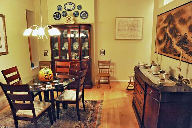 The dining room in Sandra Rouse's newly purchased home at 159 First Street Tuesday Oct. 21, 2014, in Troy, NY.  (John Carl D'Annibale / Times Union) Photo: John Carl D'Annibale / 00029127A