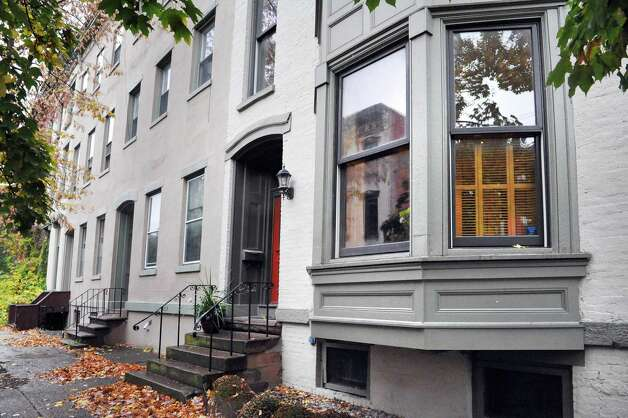 Sandra Rouse's newly purchased home at 159 First Street Tuesday Oct. 21, 2014, in Troy, NY.  (John Carl D'Annibale / Times Union) Photo: John Carl D'Annibale / 00029127A