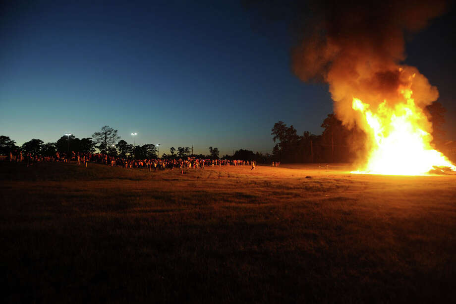 Homecoming Bonfire October 23, 2014 photo by Coach Hodges