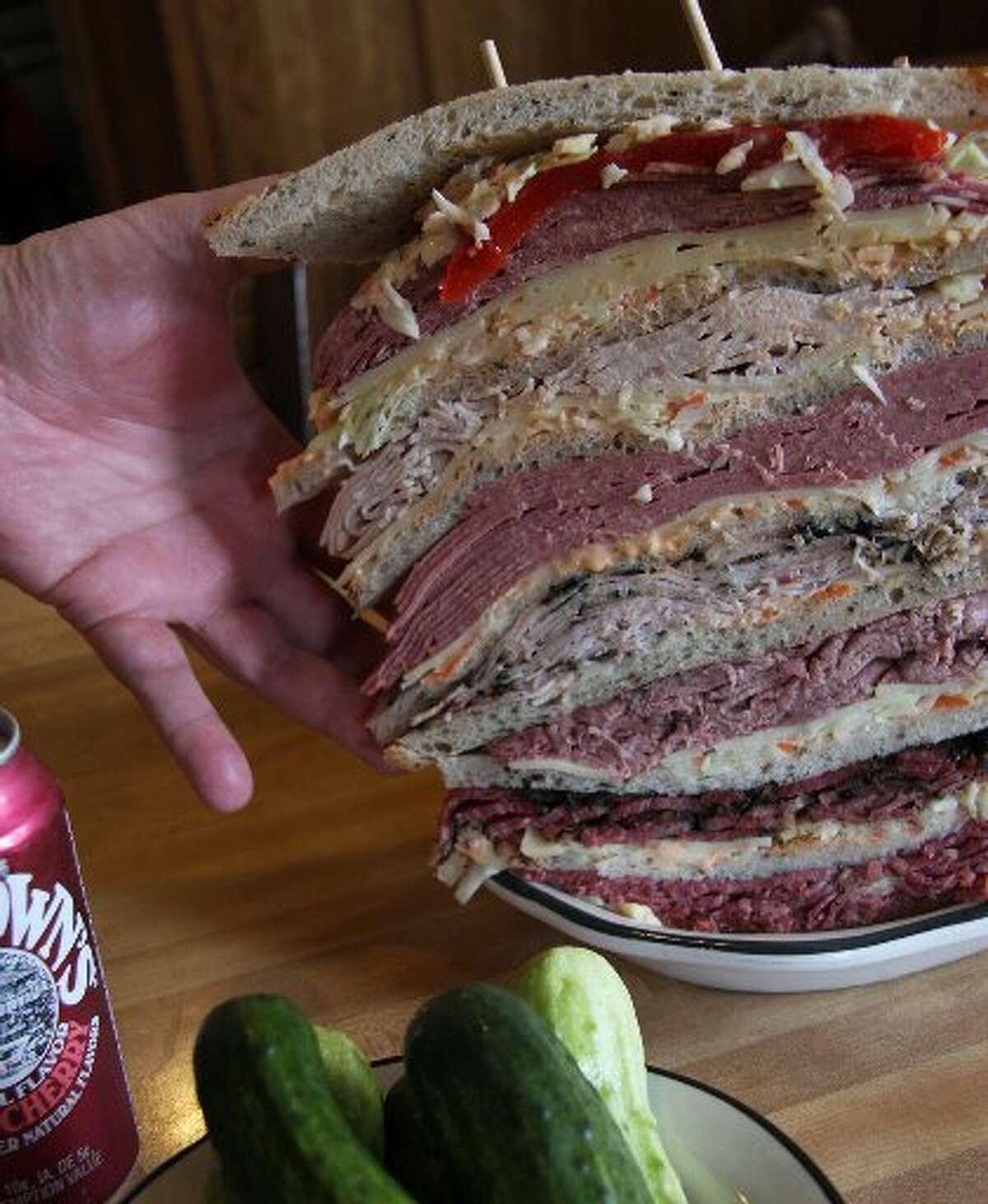 The Zellagabetsky sandwich from Kenny & Ziggy's.