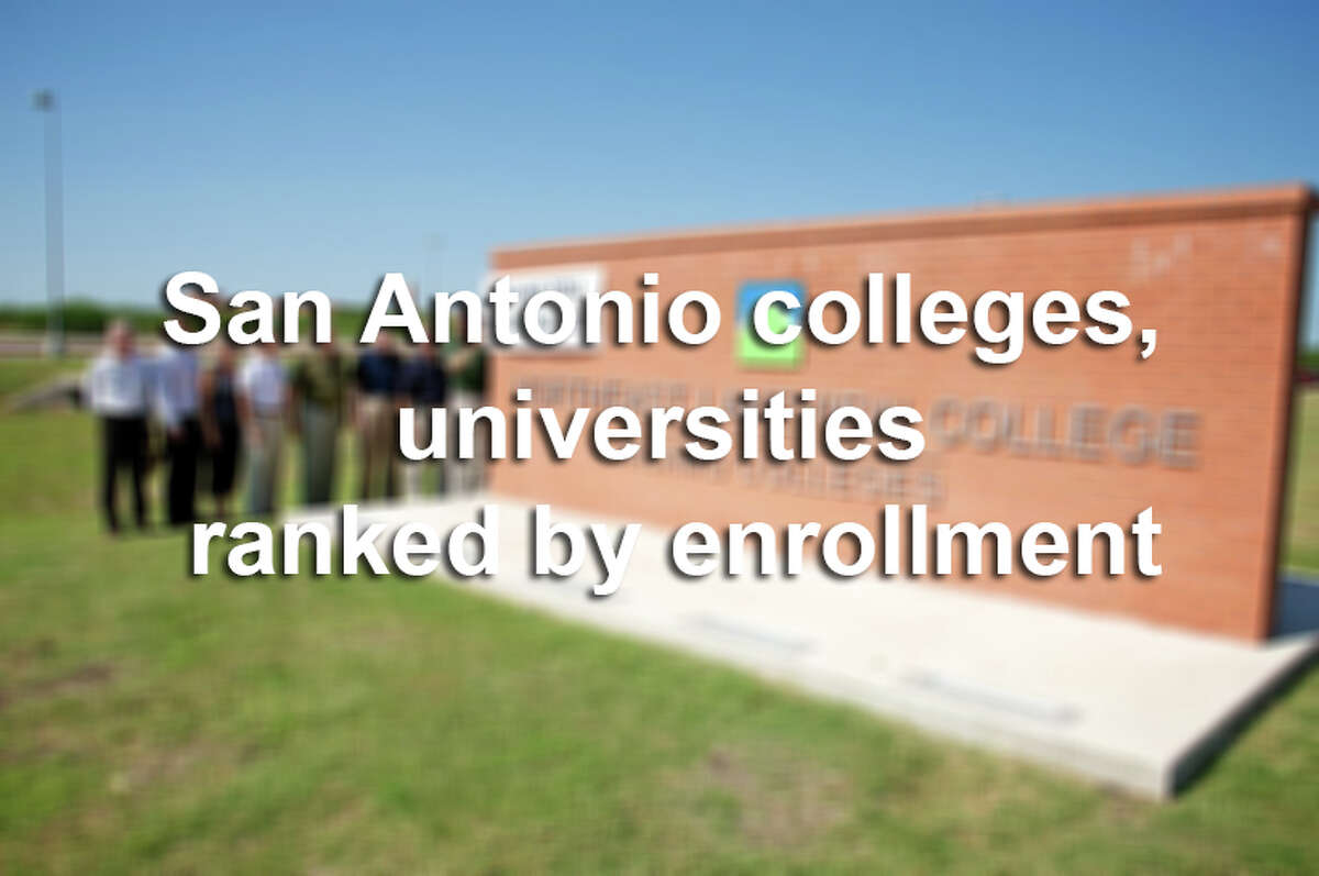 Scroll through to see how many students are enrolling in San Antonio colleges and universities.