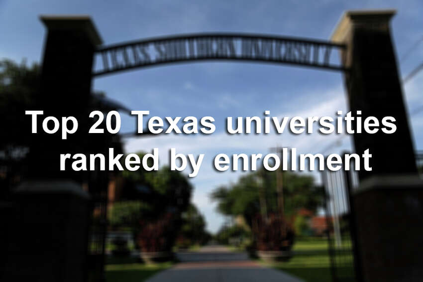 Scroll through to see which Texas universities are attracting the most students.