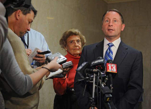 Republican gubernatorial candidate Rob Astorino speaks to the media about Wednesday's debate in Buffalo Thursday lunchtime, Oct. 23, 2014, during a press conference at the Capitol in Albany, N.Y.  (Lori Van Buren / Times Union) Photo: Lori Van Buren, Albany Times Union / 00029181A