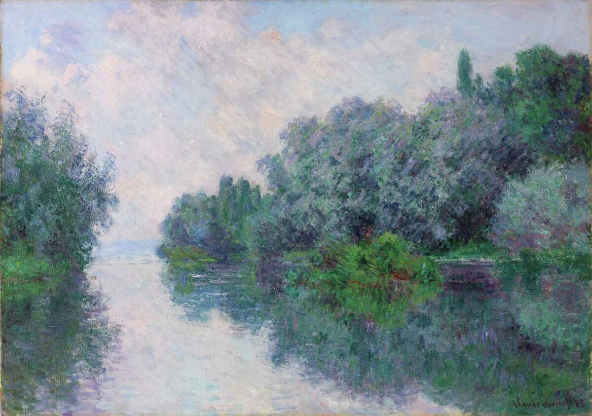 """Claude Monet painted """"The Seine near Giverny"""" more than a decade before his""""Mornings on the Seine"""" series, in the same location."""