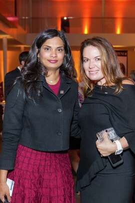 Vijaya Gadde and Julie Smolyansky at the 2014 FORTUNE 40 Under 40 release party on October 23, 2014.