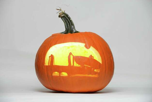 Carved pumpkin Tuesady, Oct. 21, 2014, in Colonie, N.Y. (Will Waldron/Times Union) Photo: WW / 00029143A