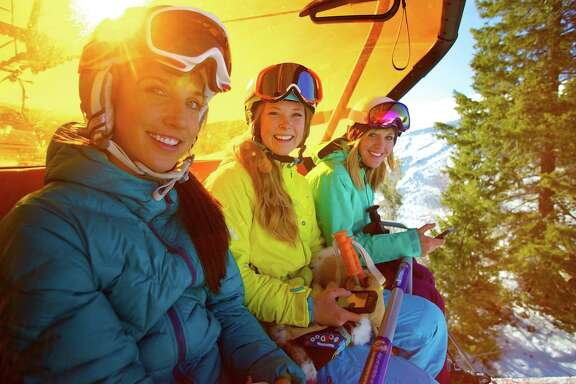 Heated chairlifts, such as the Orange Bubble Express at Canyons Resort in Utah, are growing in popularity among North American ski resorts.
