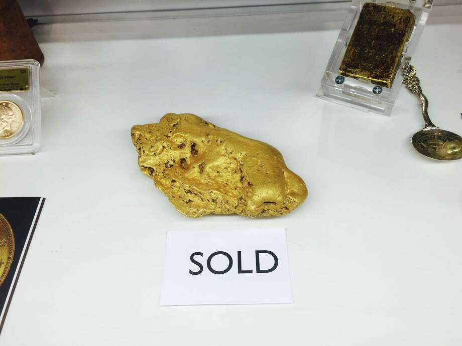 The 6.07-pound gold Butte Nugget sold Friday for an undisclosed amount of money to a secret buyer. Photo taken by David McCarthy. Photo: Photo Courtesy Kagin's Inc. / ONLINE_YES