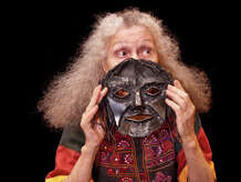 """Renowned painter, sculptor, printmaker and mask performer Suzanne Benton comes to Bridgeport on Sunday, Nov. 16, to present a masked performance of """"Esther and Job's Wife,"""" as a complement to the """"Judaica"""" art exhibit that's on view through Nov. 26 at City Lights Gallery."""