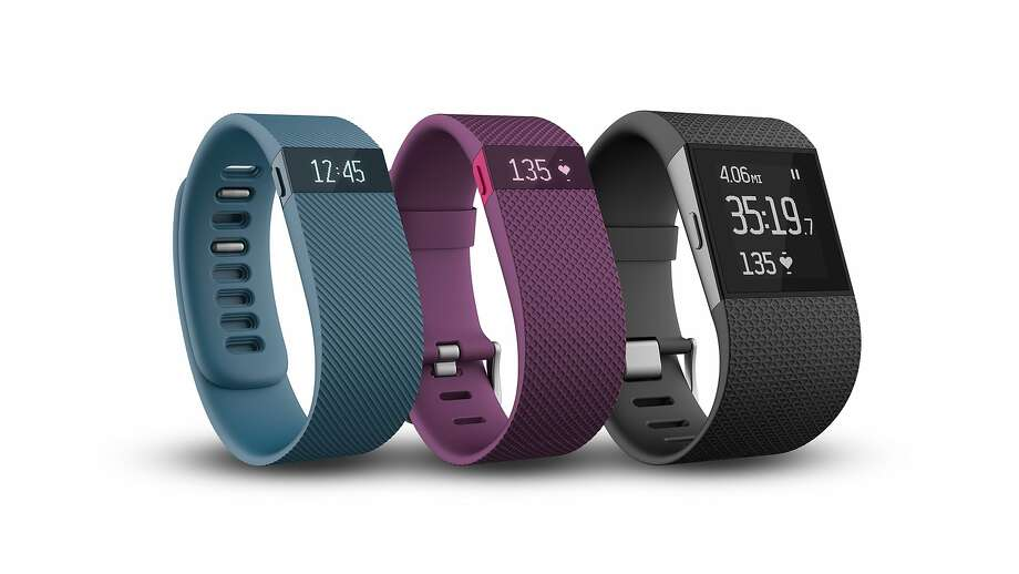 "Fitbit, the San Francisco company known for its fitness trackers, announced new products on Monday, Oct. 27, 2014. From left to right: the Fitbit Charge, the Fitbit Charge HR and the Fitbit Surge ""Super Watch"" Photo: Photos By Fitbit"