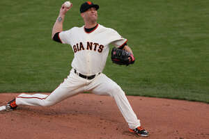 Series newcomer Tim Hudson looked like he belonged - Photo