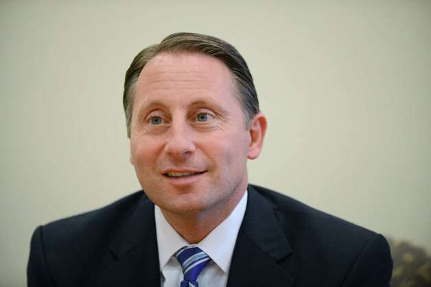 GOP gubernatorial candidate Rob Astorino speaks during a Times Union editorial board meeting Thursday afternoon, Oct. 23, 2014, in Colonie, N.Y. (Will Waldron/Times Union) Photo: WW / 00029104A