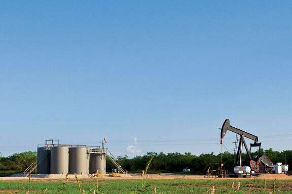 An EOG Resources pumping unit works in  the Eagle Ford Shale of South Texas, where the Houston-based independent oil company is the largest leaseholder. (EOG Resources photo)