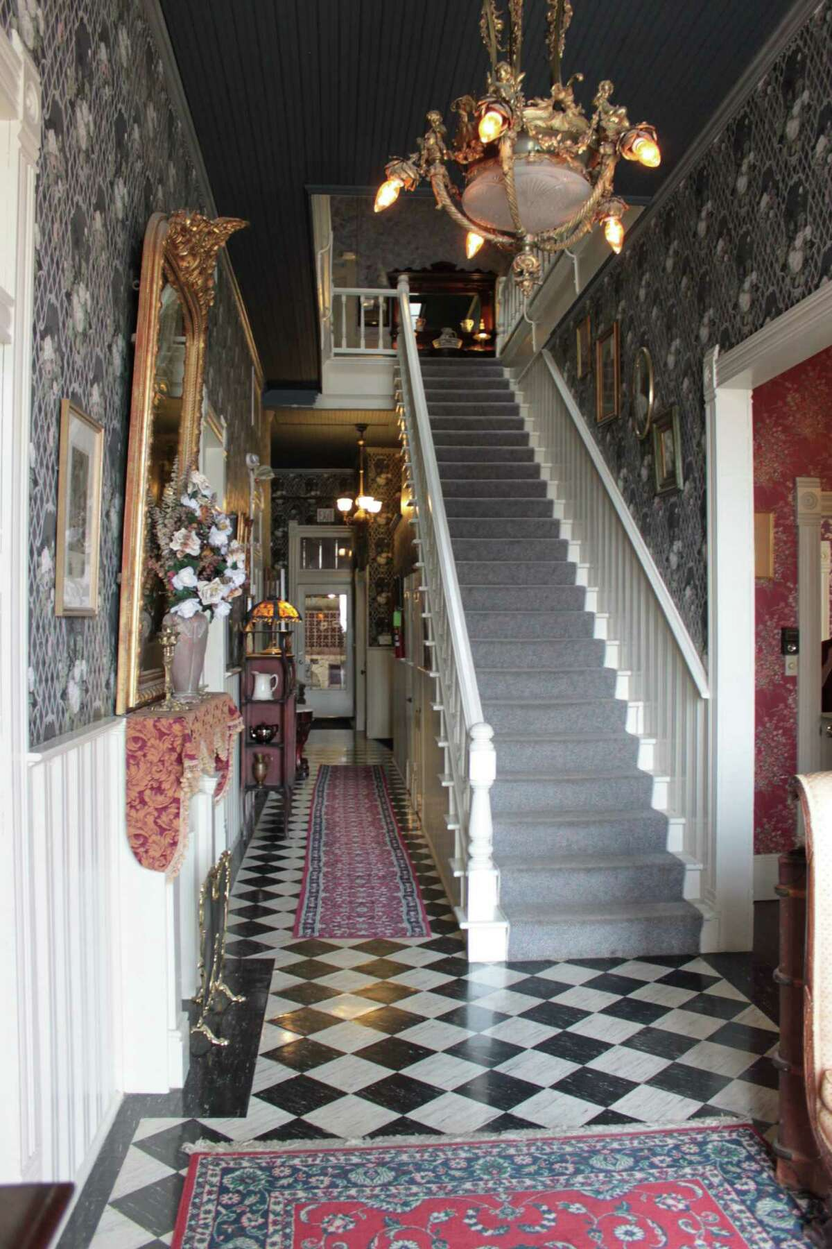 Guests sometimes say they see the spirit of Penelope, a former inkeeper, standing at the top of the stairs at the Prince Solms Inn in New Braunfels.