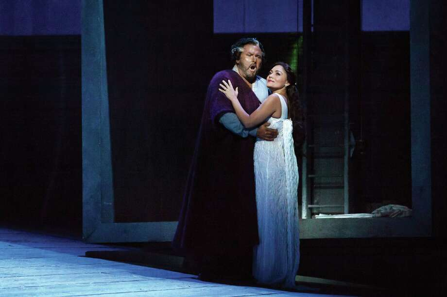 """Simon O'Neill plays Otello and Ailyn Perez is Desdemona in Houston Grand Opera's production of Giuseppe Verdi's """"Otello."""" Photo: Lynn Lane / Lynn Lane"""