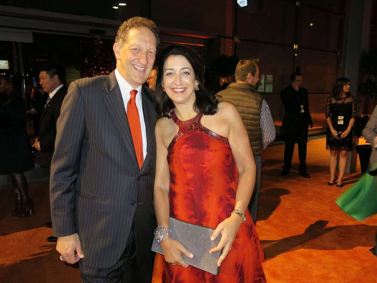 SF Giants CEO-President Larry Baer and his wife, Pam Baer, celebrate the World Series 2014 Gala at Pier 27.