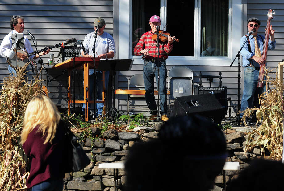 The Bedlam Brothers String Band performs, during the Black Rock Farmers Market's Harvest Hootenanny at St. Ann Field in Bridgeport, Conn. on Saturday October 25, 2014. Photo: Christian Abraham / Connecticut Post