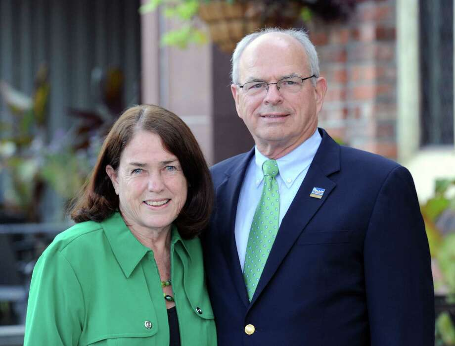 Bill and Evon Malloy, husband and wife, were announced as the Grand Marshals for the Stamford Saint Patrick's Day Parade during an annoucement celebration by the selection committee to kick off the historic 20th anniversary parade season at the Castle Bar & Grill , Stamford, Conn., Saturday, Oct. 25, 2014. Photo: Bob Luckey / Greenwich Time