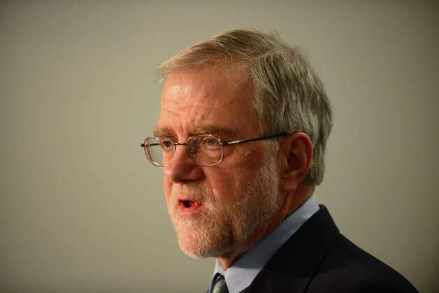 Howie Hawkins, the Green Party candidate for governor, speaks during a news conference Wednesday, April 9, 2014, at the Legislative Office Building in Albany, N.Y. (Will Waldron/Times Union) Photo: WW / 00026392A