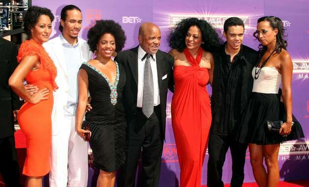 LOS ANGELES, CA - JUNE 26:  Motown founder Berry Gordy (C) poses with Lifetime Achievement Award honoree singer Diana Ross (3rd from Right) and her family arrive at the 2007 BET Awards held at the Shrine Auditorium on June 26, 2007 in Los Angeles, California.  (Photo by Frederick M. Brown/Getty Images)  *** Local Caption *** Tracee Ellis Ross;Berry Gordy;Diana Ross;Evan Ross;Chudney Ross Photo: Frederick M. Brown, Getty Images / 2007 Getty Images