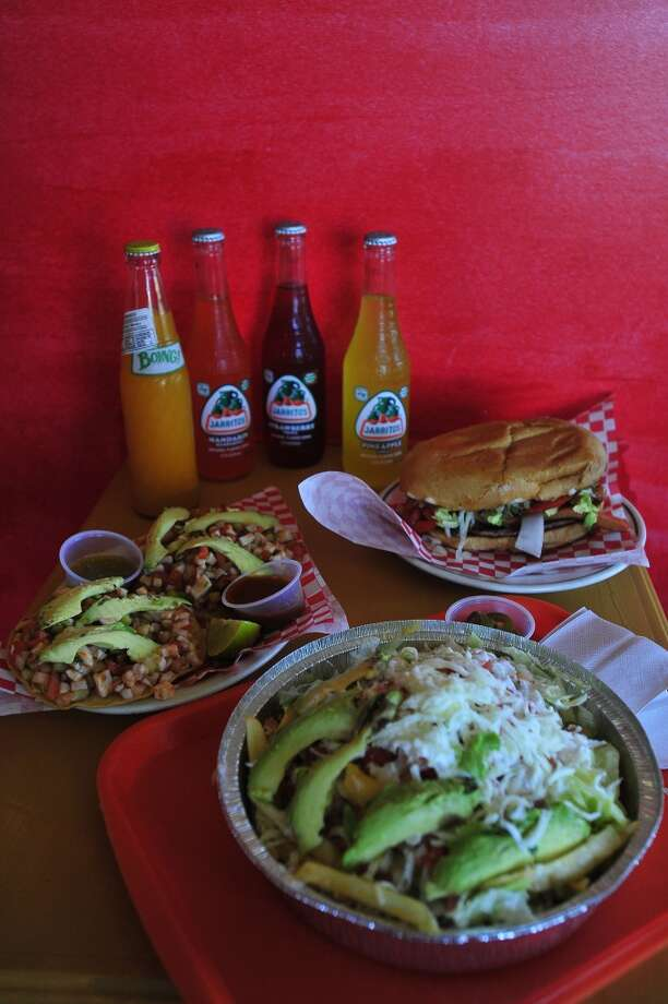From left, Mexican favorites, such as ceviche tostadas azada fries ,a torta Hawaiianna and fruity sodas are available at La Salsitas, a 24-hour Mexican restaurant that recently opened a new location on College Street in Beaumont.  Photo taken Thursday, October 16, 2014 Kim Brent/@kimbpix