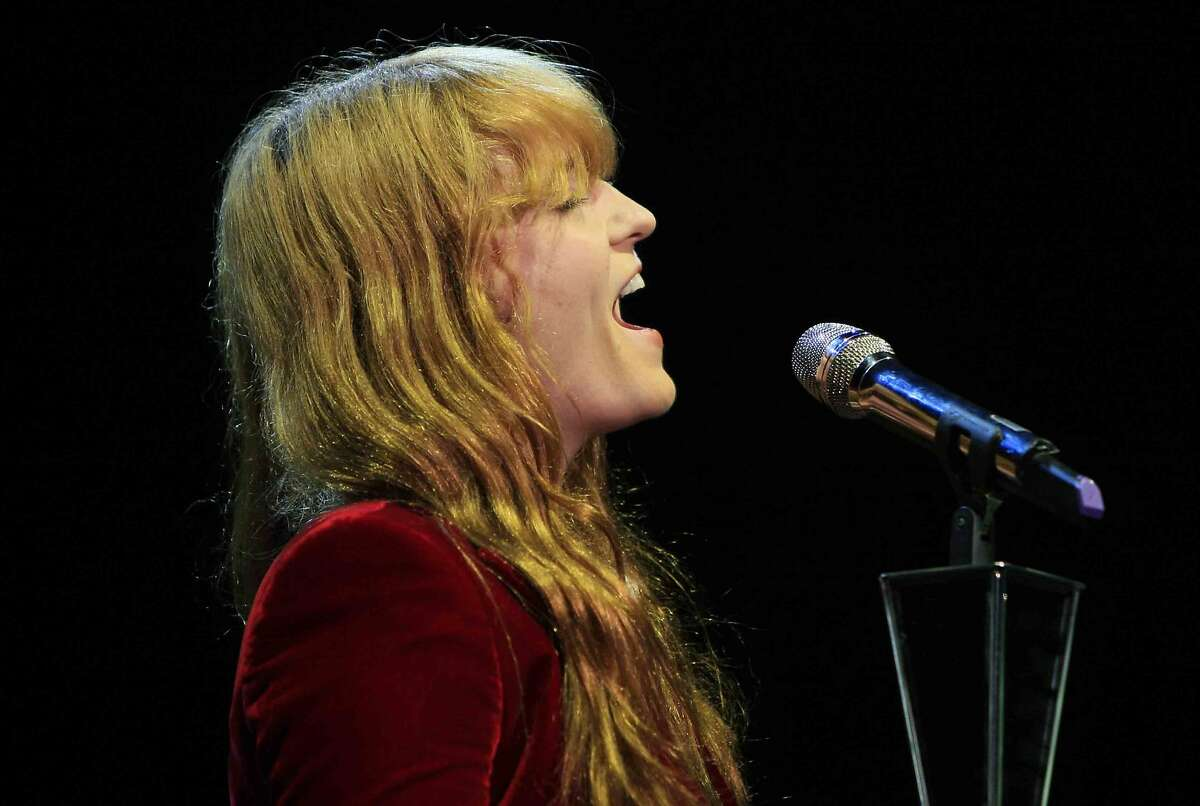 Florence and the Machine performs during the 28th annual Bridge School Benefit Concert at Shoreline Amphitheater in Mountain View, Calif. Saturday, October 25, 2014.