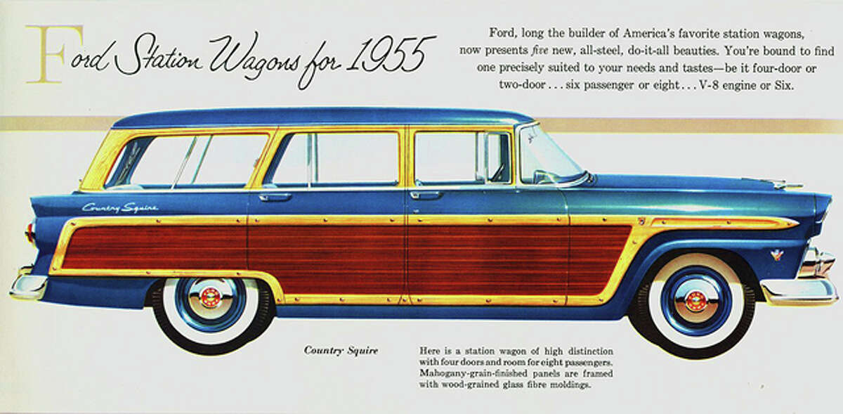 Ad for 1955 Ford Country Squire. Source: Classic Cars blog.