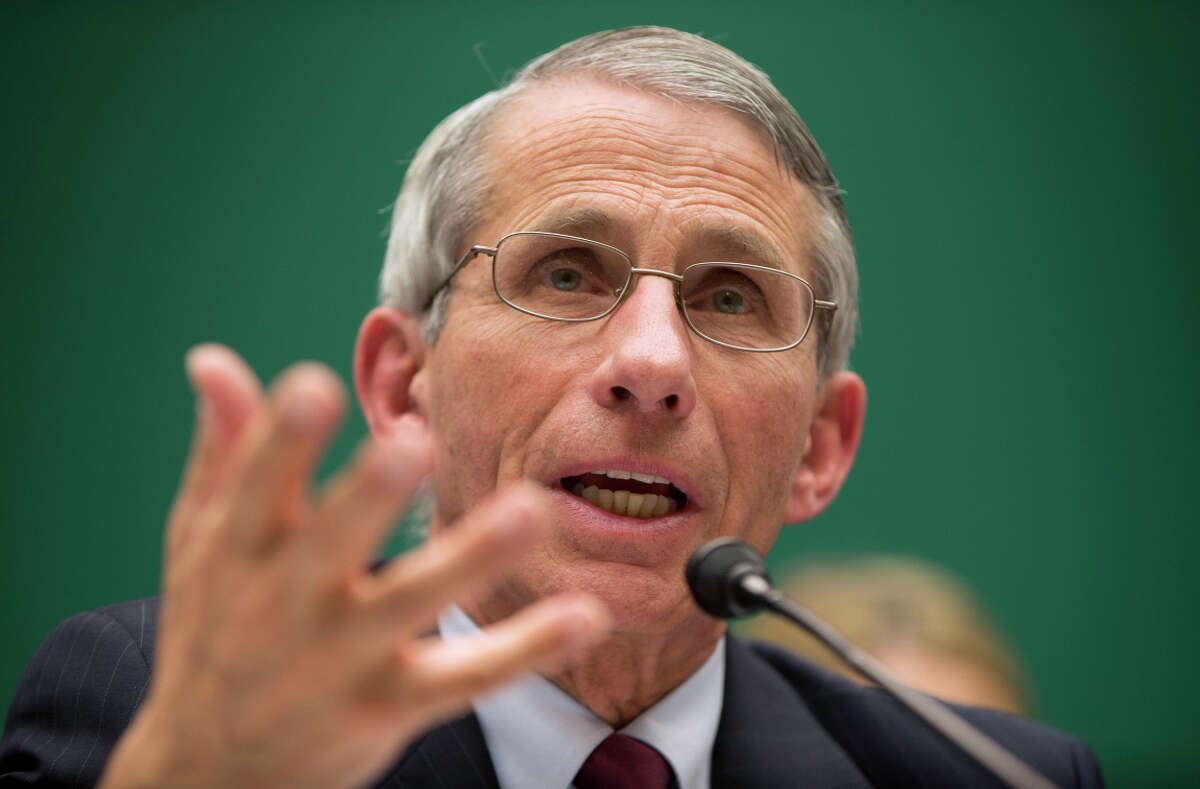 Dr. Anthony Fauci, director of the National Institute of Allergy and Infectious Diseases, testifies on Capitol Hill in Washington.