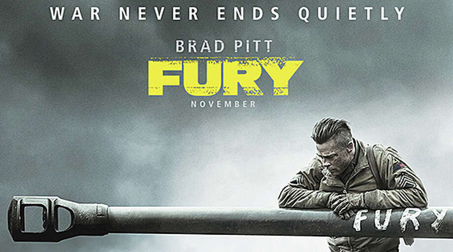 """Fury,"" a World War II movie starring Brad Pitt, is playing in area theaters. Photo: Contributed Photo / Westport News"