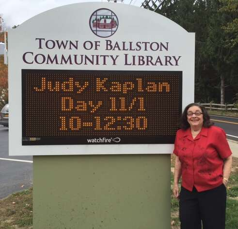 The Town of Ballston Community Library celebrates the 25th anniversary of Judy Kaplan's working start at the library with cake and refreshments, 10 a.m. to 12:30 p.m. Nov. 1. She started as a library patron when her family moved to Charlton in 1960, where she still lives. She volunteered for more than 10 years before being hired as senior library clerk in 1989. She has seen staff grow from 5 to 21, a move to a new building in 2001. She's twice been acting director. She and he husband Asa have three children, Pam, Sheryl, and Carl Kaplan and three grandchildren, Marisa, Ethan, and Jared Miller. She's acted for both the Schenectady Civic and Curtain Call Theaters and is known for her extensive and fascinating penguin collection which includes a larger than life size wooden penguin in her front yard. (Jenn RIchard)