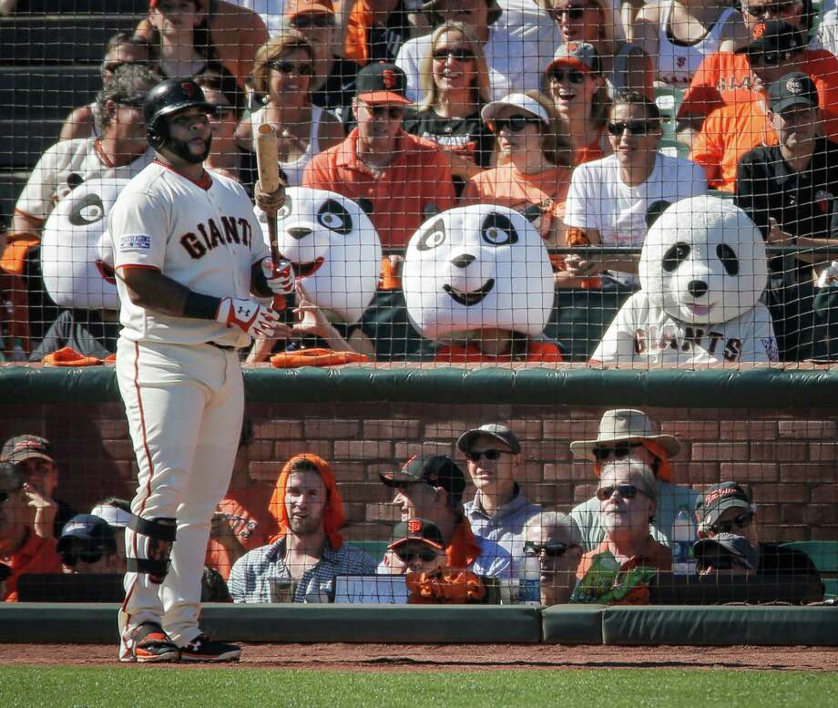 Former Giants third baseman Pablo Sandoval waits to hit during Game 3 of the NLDS at AT&T Park on Oct. 6. Photo: Carlos Avila Gonzalez / The Chronicle / ONLINE_YES